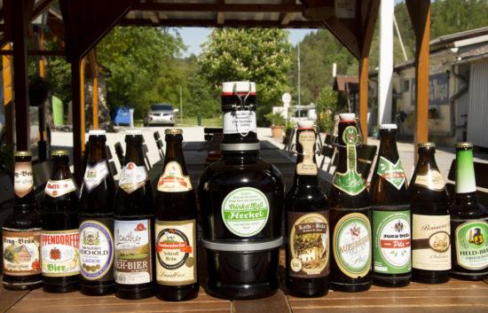 fränkisches Bier am Campingplatz Waischenfeld