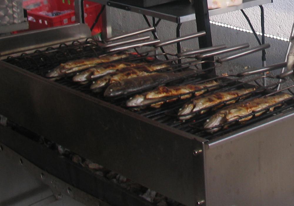 Spezialitäten vom Grill am campingplatz Waischenfeld